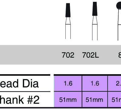 55123 Sterile Surgical Burs 51mm shank#2 - Copy